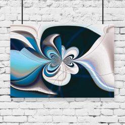 plakat z abstrakcyjnym wzorem