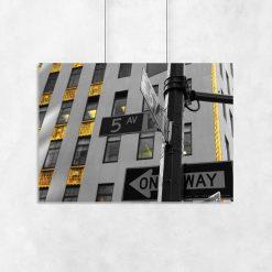 plakat słynna ulica w Nowym Jorku