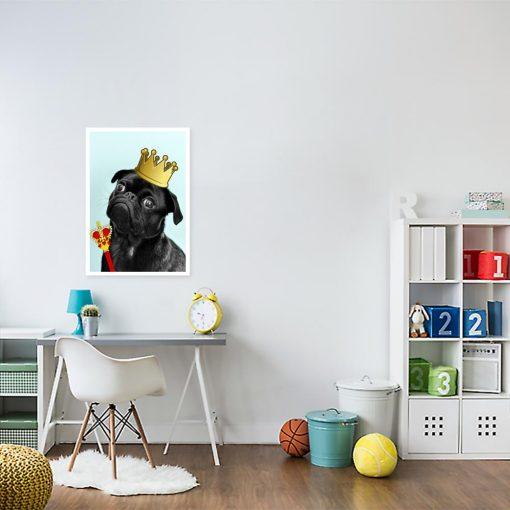 plakat z czarnym psem do pokoju dziecka