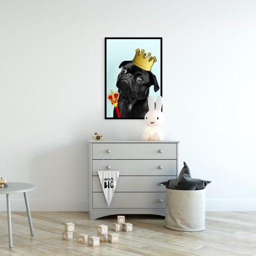 plakat z czarnym psem