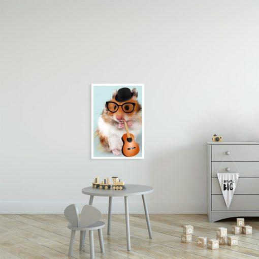 plakat z chomikiem do pokoju dziecka