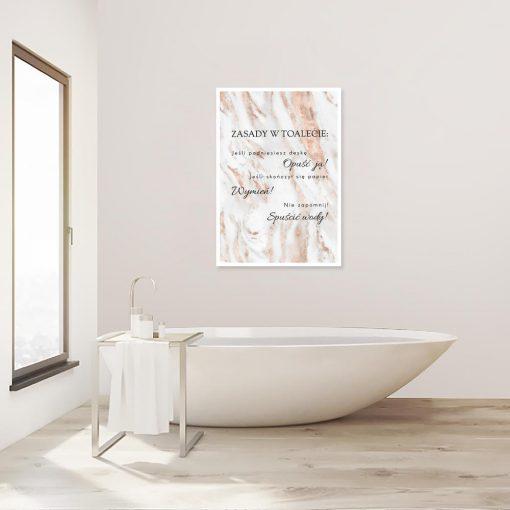 plakat z napisami do łazienki