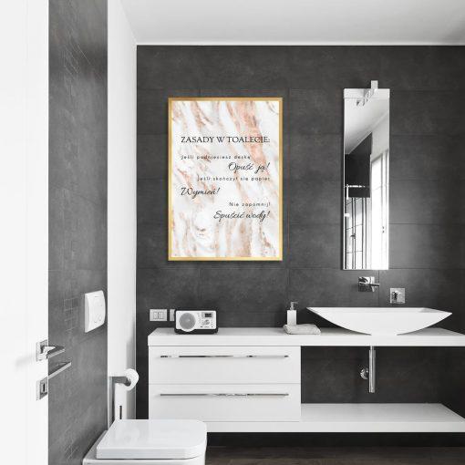 złoto- biały plakat z sentencją