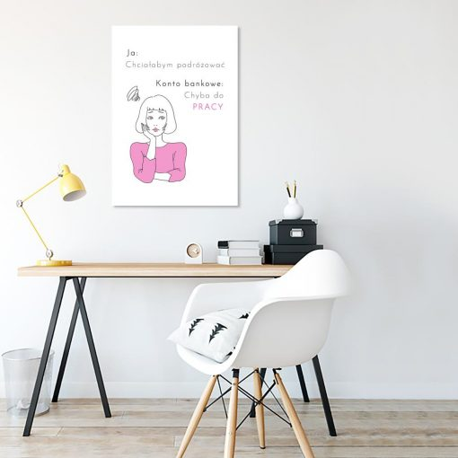 plakat z zabawnym napisem do salonu