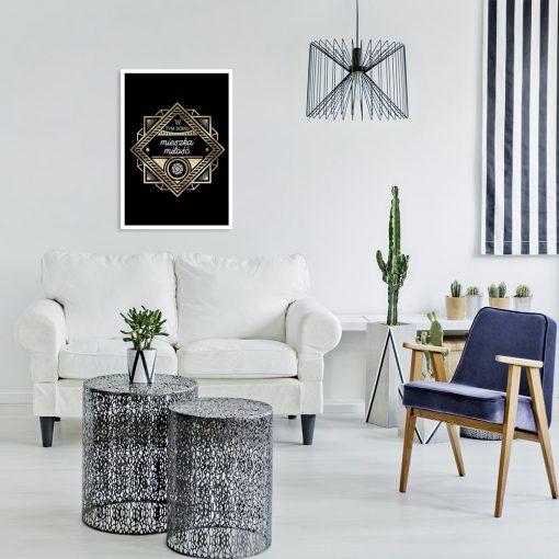 plakat czarno-złoty Art deco
