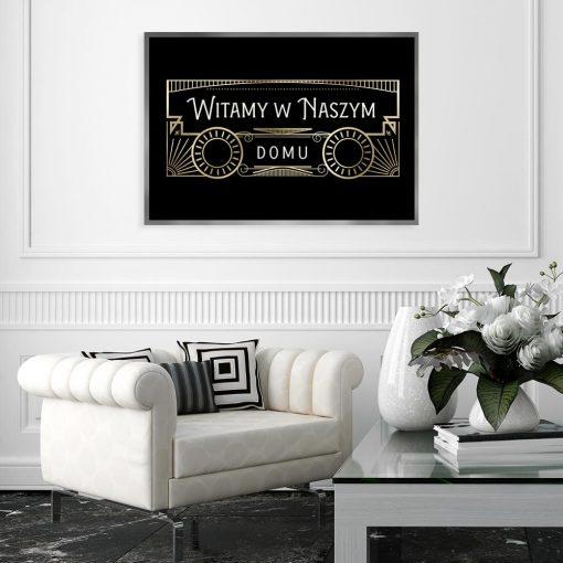 plakat witający gości