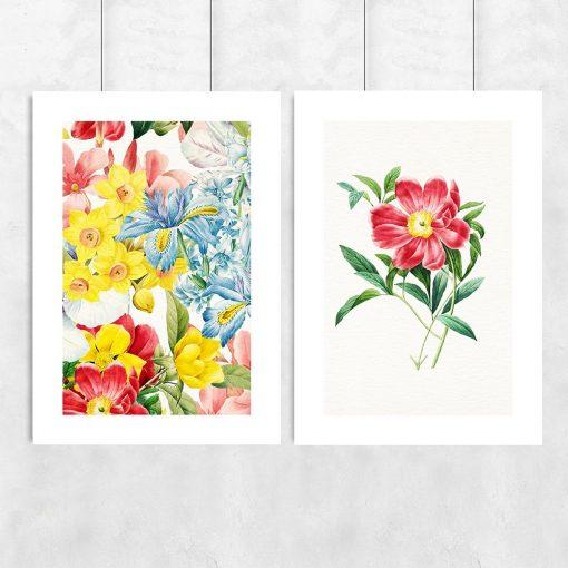 kwiatowy wzór na plakacie