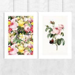 podwójny plakat w kwiaty róże