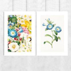 dwuczęściowy plakat w kwiaty