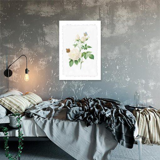 plakat z różą do sypialni