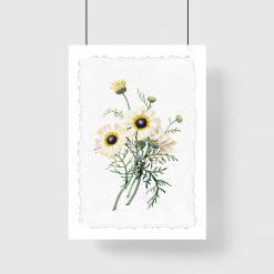 plakat w jasne kwiaty