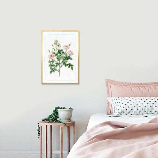 plakat w róże do sypialni