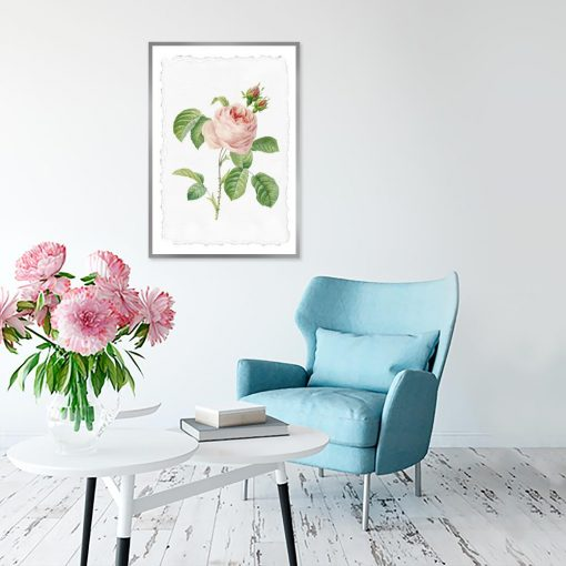 plakat w różę do salonu
