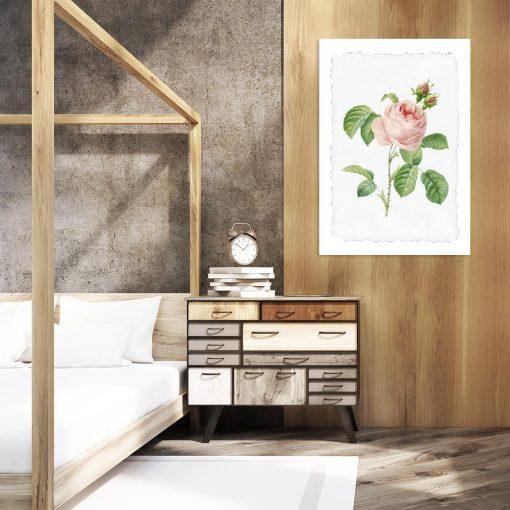 plakat w kwiaty do sypialni