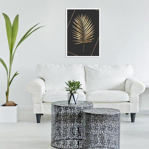 liść palmowy na plakacie