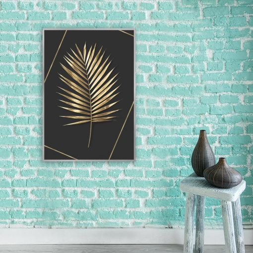 plakat z liściem palmy