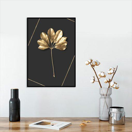 motyw roślinny na plakacie