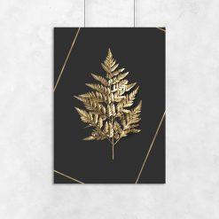 złoty liść na plakacie