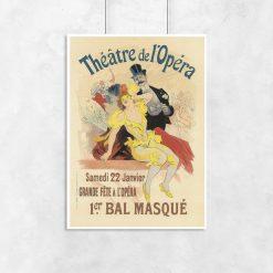 plakat retro z przebranymi aktorami