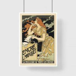 plakat vintage brązowy