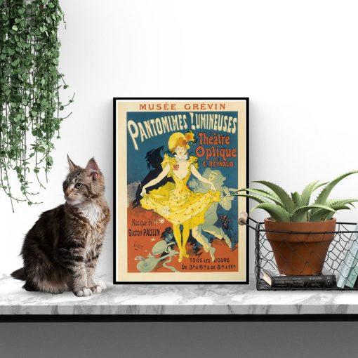 plakat kobieta w żółtej sukni