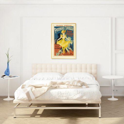 plakat retro do sypialni