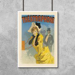plakat retro z francuskimi napisami