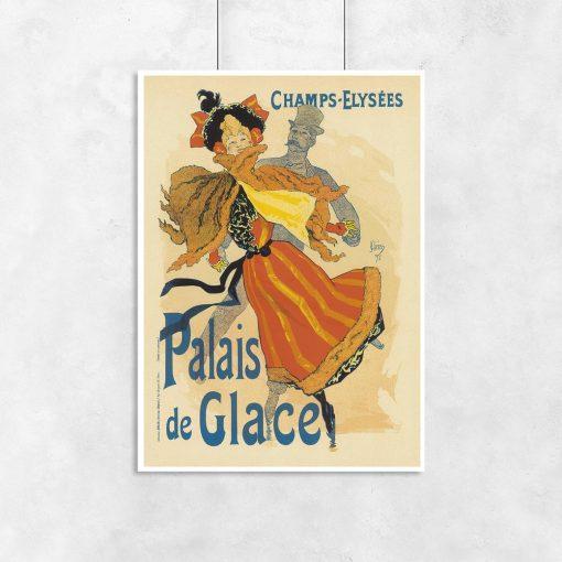plakat w stylistyce vintage
