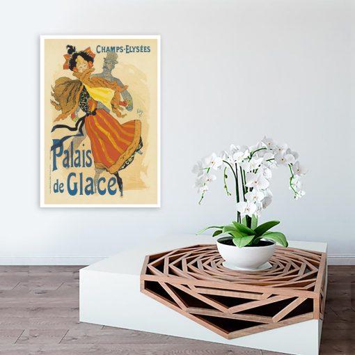 plakat retro na ścianę