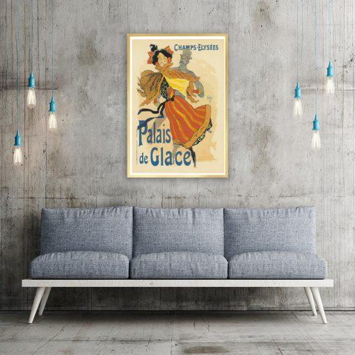 plakat vintage nad kanapę