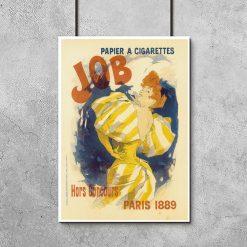 plakat vintage z kobietą palącą papierosa