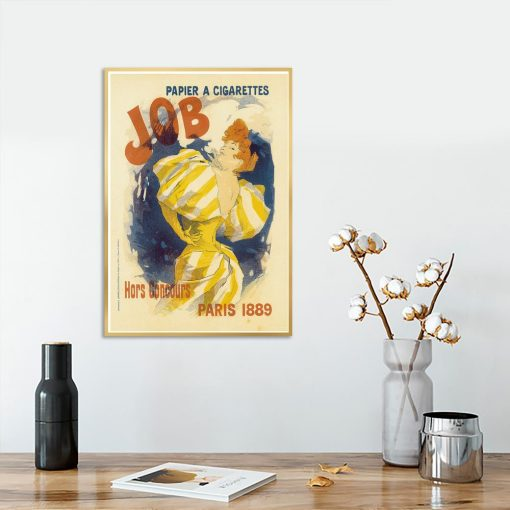 plakat vintage ruda kobieta