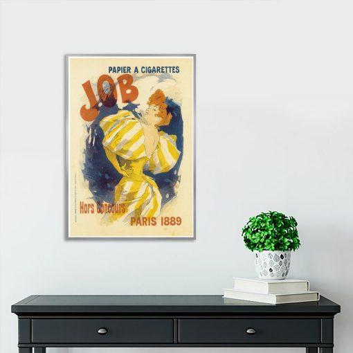 plakat retro kobieta paląca papierosa