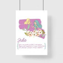 plakat z imieniem Julia