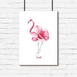 plakat flaming kwiat love