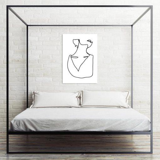 plakat szkic do sypialni