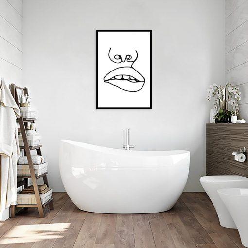 plakat minimalistyczny do łazienki