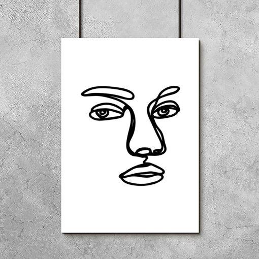 czarno-biały plakat minimalistyczny