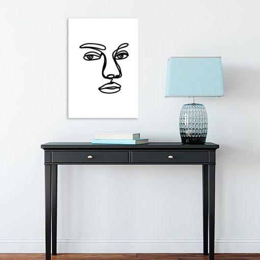 plakat zarys twarzy kobiecej