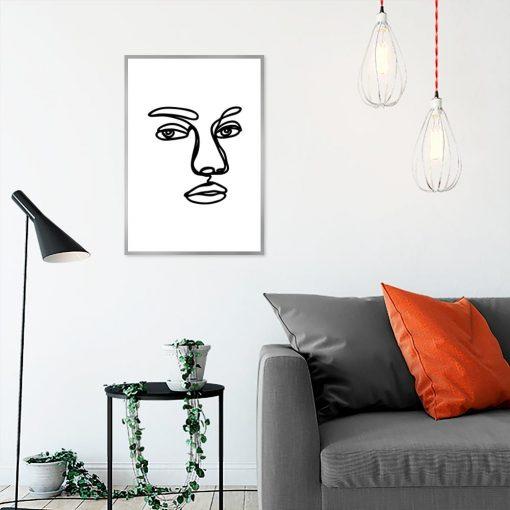 plakat szkic twarzy kobiety