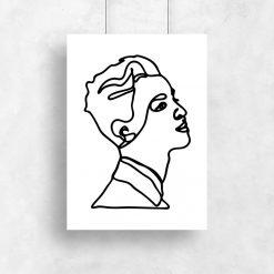 czarno-biały minimalistyczny plakat