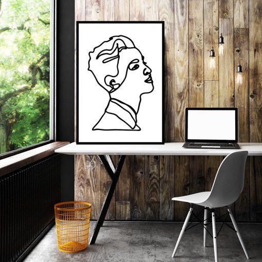 plakat twarz kobiety szkic