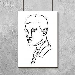 minimalistyczny plakat mężczyzny