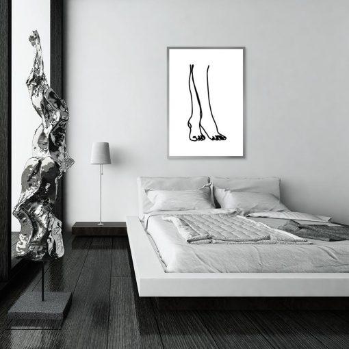 plakat minimalistyczny nogi stopy