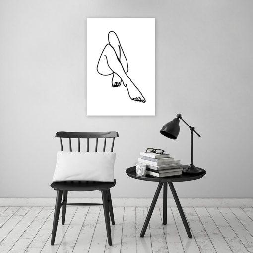 plakat stopy kobiety