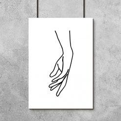 plakat szkic dłoni kobiety
