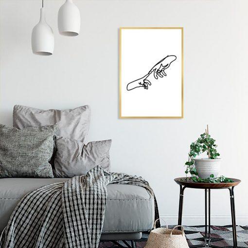plakat minimalistyczny do sypialni