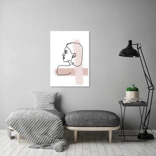 plakat minimalistyczny z kobietą