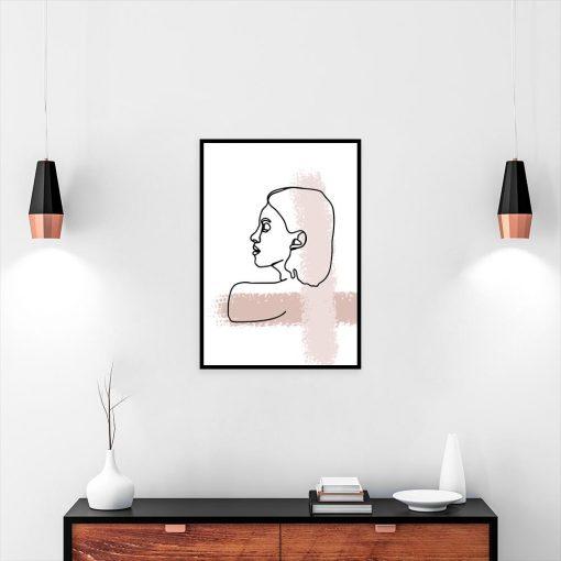 plakat minimalistyczny nad biurko