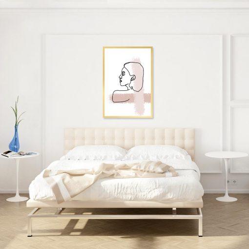 plakat z rysunkiem twarzy kobiety